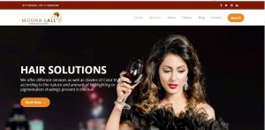 Fashion & Makeup website designing services